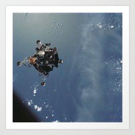 Apollo 9 - Lunar Module Over Earth Art Print