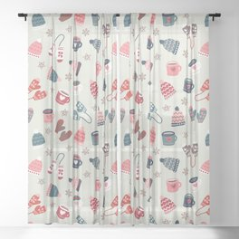 Scandinavian Winter Time Sheer Curtain