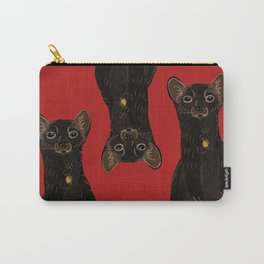 Sable Marten in Red Carry-All Pouch