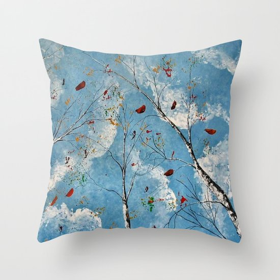 Blue Skyes Throw Pillow
