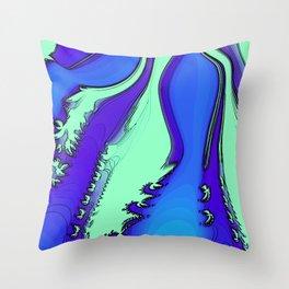 River of Fractals Throw Pillow