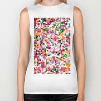 mosaic Biker Tanks featuring Mosaic by Laura Ruth