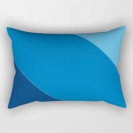 Azure Cerulean Royal Blue Diagonal Rectangular Pillow