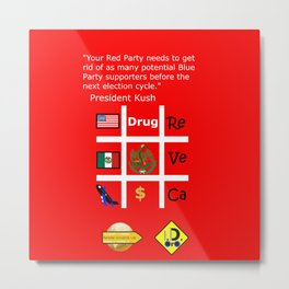 Red Party Metal Print