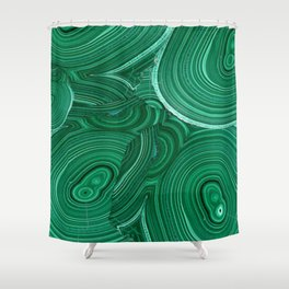 Green Malachite Nature Pattern Design Abstract Shower Curtain