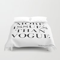 vogue Duvet Covers featuring #VOGUE by YUNG-GOD