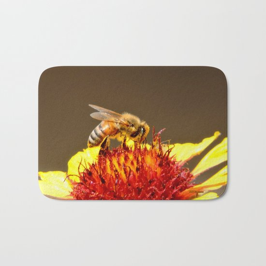 Pollenator at Work Bath Mat