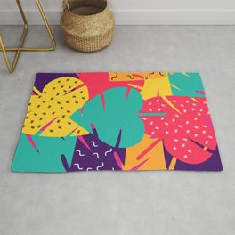 Retro leaves Rug