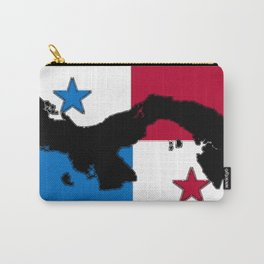 Panama Map with Panamanian Flag Carry-All Pouch
