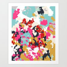 Inez - Modern Abstract painting in bold colors for trendy modern feminine gifts ideas  Art Print