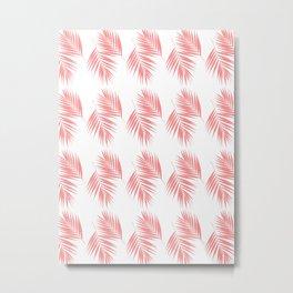 Palm Leaves Pattern #17 #LightCoral #decor #art #society6 Metal Print