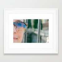 melissa smith Framed Art Prints featuring melissa by Allison Wattenbarger