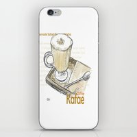 cafe iPhone & iPod Skins featuring Cafe by Indraart