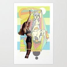 native elephant Art Print