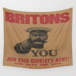 Vintage poster - British Military Wall Tapestry