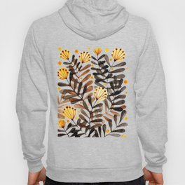 Flowers and foliage - autumn palette Hoody
