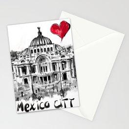 I love Mexico City Stationery Cards