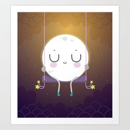 Little Moon Art Print