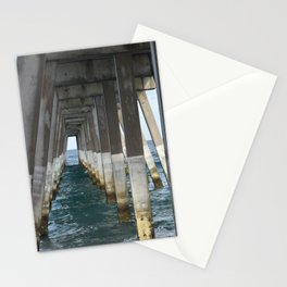 Under the Pier, Into the Ocean (Wrightsville Beach, NC) Stationery Cards