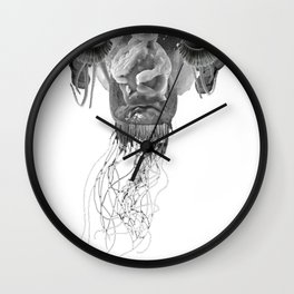 SPAGHETTI ALIEN Wall Clock