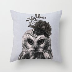 Portrait of Owl Throw Pillow