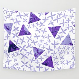 Shapes in Nature : Purple Wall Tapestry