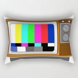 Retro Television Set TV Test Card Signal Pattern Rectangular Pillow