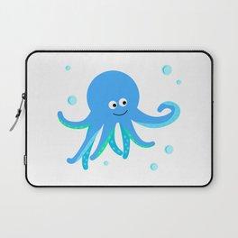 Blue baby octopus Laptop Sleeve