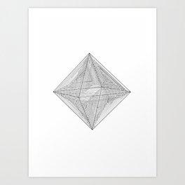 DMT OCTAHEDRON Art Print