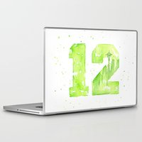 seahawks Laptop & iPad Skins featuring 12th Man Seattle Art by Olechka