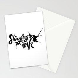 slinging ink - black Stationery Cards