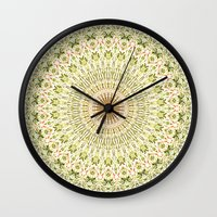 carnival Wall Clocks featuring Carnival by Jane Lacey Smith