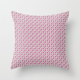 Diagonal white flowers Throw Pillow