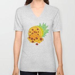 Pizza Pineapple Unisex V-Neck