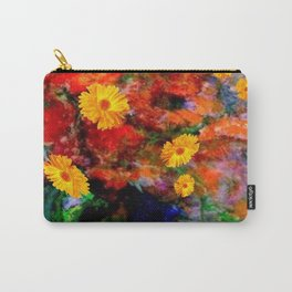 STILL LIFE PAINTING RED & YELLOW FLOWERS Carry-All Pouch