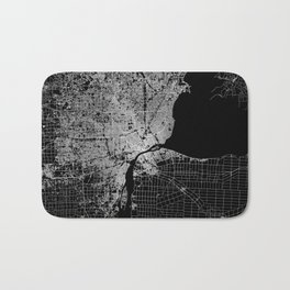 Detroit map  Bath Mat
