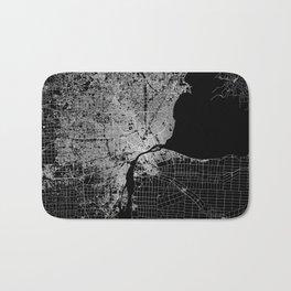 Detroit map  Bath Mat