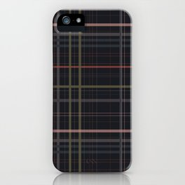 A very glommy plaid iPhone Case
