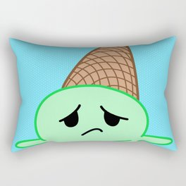Sad Food - Oopsy Daisy Ice Cream by Squibble Design Rectangular Pillow