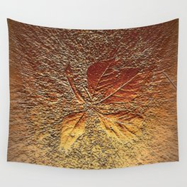 Rust glitter leaves in fall Wall Tapestry