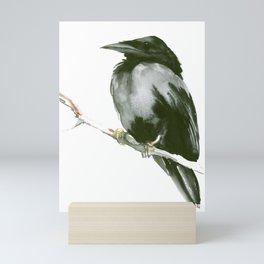 RAVEN on the tree Mini Art Print