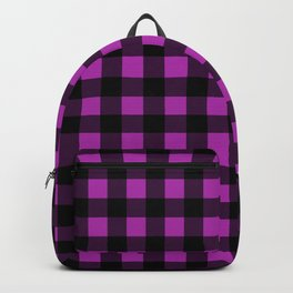 Plaid (Black & Purple Pattern) Backpack