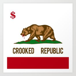 CROOKED REPUBLIC Art Print