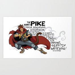 The Name's Pike Art Print