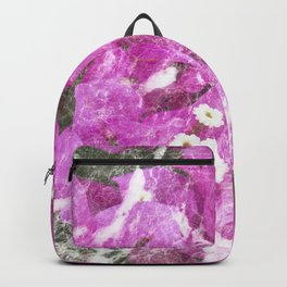 Pink flowers marble Backpack