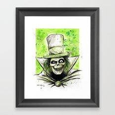 Hat Box Ghost Framed Art Print