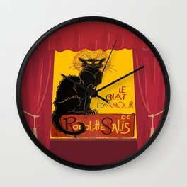 Le Chat Noir DAmour Theatre Stage Wall Clock