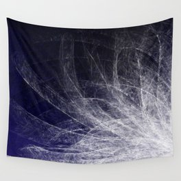 Cyan Texture Feathers Wall Tapestry