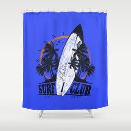 Summer Time - Surf Club Shower Curtain