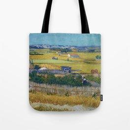 The Harvest by Vincent van Gogh Tote Bag